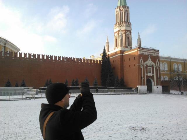 Клинт Фуз на Красной площади