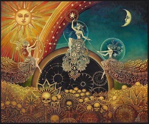 Мойры (Иллюстрация © Emily Balivet, 2014)
