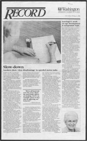Колонка их архива Университета Вашингтона в Сент-Луисе (3 августа 1989), рассказывающая о симпозиуме, посвящённом лёвинджерским исследованиям развития эго, на конференции Американской психологической ассоциации.