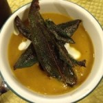 Roasted Butternut Squash Soup with Crispy Sage