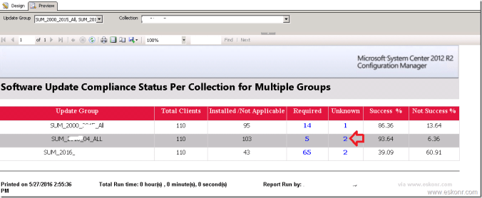 Multiple Update Groups for Collection