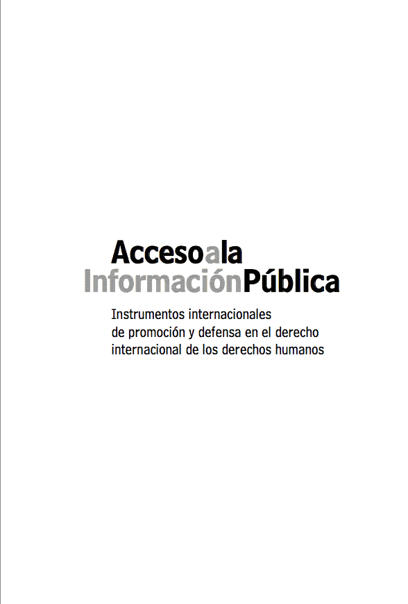 Instrumentos Internacionales de Acceso a la Información Pública