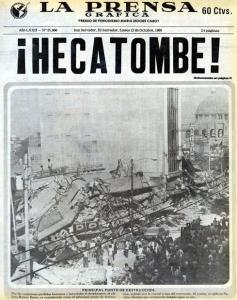 Portada de La Prensa Gráfica Terremoto 1986
