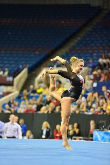 Bridget Sloan 2016 Gator Gymnastics University of Florida April 15, 2016 - NCAA Semifinal I - Florida (197.475), LSU (197.3375), Georgia (196.725), Stanford (195.575), Auburn (195.10), Minnesota (194.9875)