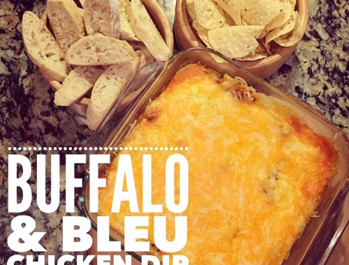 Super Bowl Recipe - Buffalo & Bleu Chicken Dip