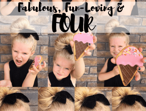 Fabulous and Four - Happy 4th Birthday