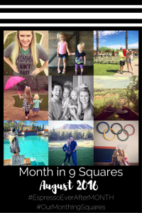 August - Month in 9 squares