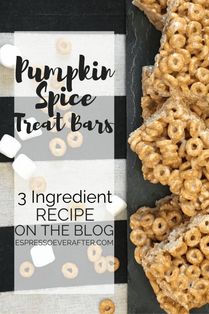 Pumpkin Spice Treat Bars - Recipe
