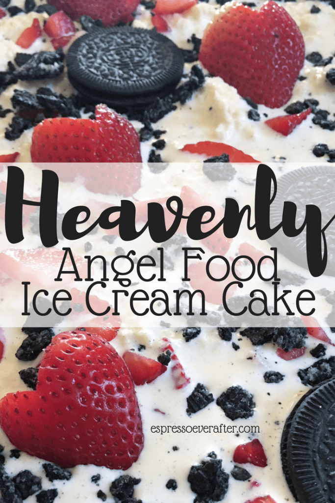 Angel Food Ice Cream Cake | It's Heavenly!