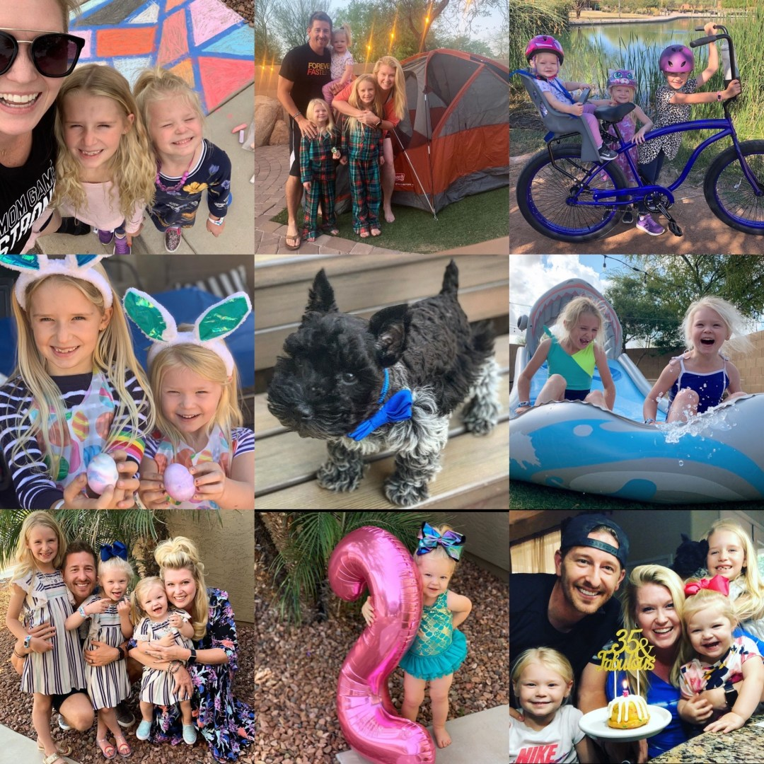 Our Month In 9 Squares is a 9-photo recap of the month, filled with photos and cherished memories. Check out our favorite moments in April 2020.