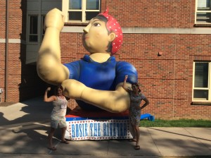 Bella & M. Dante w/ Rosie the Riveter 2015 Penn State