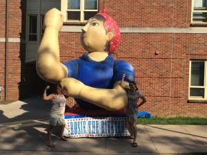 Bella & M. Dante w/ Rosie the Riveter 2015 Penn State