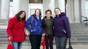 From left to right, Bella, Elizabeth Edwards, Rachel West + Caitlin Edwards