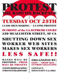 Backpage Protest