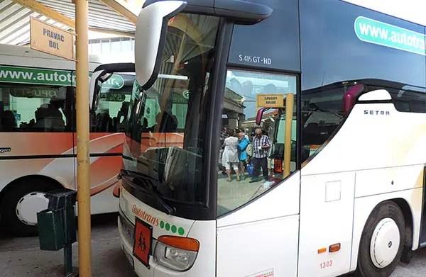 Como é viajar de ônibus na Croácia