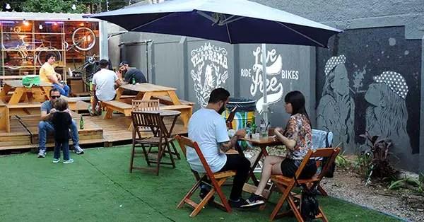 Praça Velorama: Aluguel de bicicletas elétricas, comidinhas e bebidinhas em SP