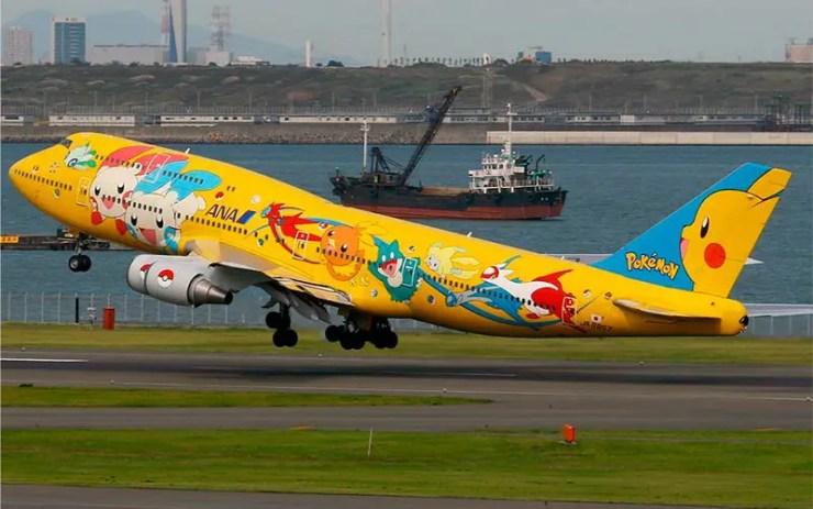 Já pensou voar num avião Pokémon? Os japoneses fizeram!