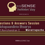 Questions and Answers session of Velichapadinte Bharya Presentation