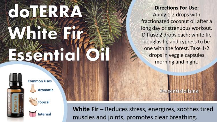 doterra white fir essential oil