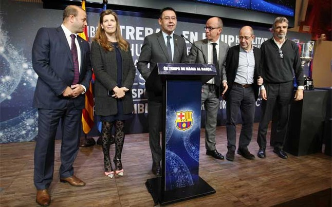 "Bartomeu: ""We are the Barça of the Five Cups"""