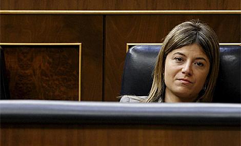 Bibiana Aído, ministra de Igualdad, en el Congreso de los Diputados. (Foto: Efe)