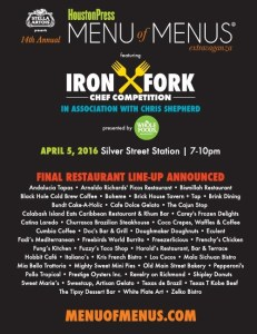 final lineup menu of menus