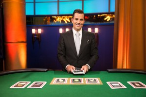 Host Bill Rancic gets ready to deal the cards in Food Network's Kitchen ...