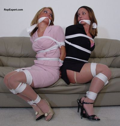 two girls bound together