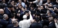 El sumo pontífice con los fieles turcos