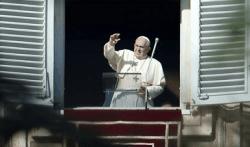 El Obispo de Roma en el balcón del Palacio Apostólico