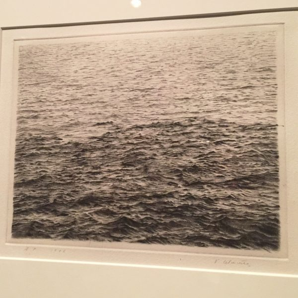 """Drypoint - Ocean Surface"" 1985"