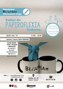Papiroflexia tailerra (Rafa Rodrigo) @ Biharrian (Ubitxa 6-8)