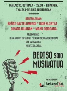 Bertso saio musikatua @ Txaltxa Zelaiko auditorioan