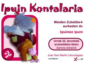 """Ipuin kontalaria: Maialen Zubeldia (""""Ipuinez ipuin"""") @ Eibarko Liburutegian"""