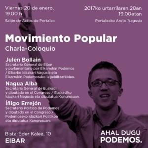 "Hitzaldia: ""Movimiento popular"" @ Portalea (areto nagusia)"