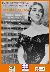 Emakumeen  historioak:  Maria  Callas  sopranoa