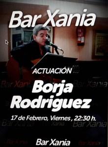 Kontzertua: Borja Rodriguez @ Xania tabernan
