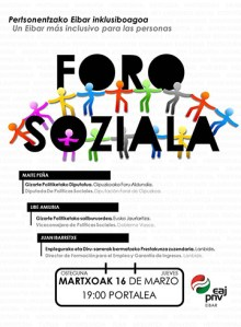 EAJ-PNVren Foro Soziala @ Portalean (areto nagusian)