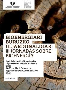 Bioenergiari buruzko III. Jardunaldiak @ Euskal Herriko Unibertsitatearen Gipuzkoako Ingeniaritza Eskolan