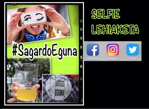 #SagardoEguna selfie lehiaketarako argazkiak partekatzeko aukera daukazue oraindik
