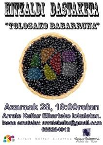 """Hitzaldi dastaketa: """"Tolosako babarruna"""" @ Arrate Kultur Elkartean"""