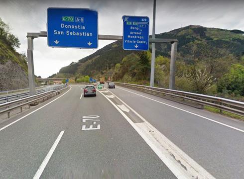 AP-1 autopista itxiko dute gaur gauean, Donostiarako zentzuan