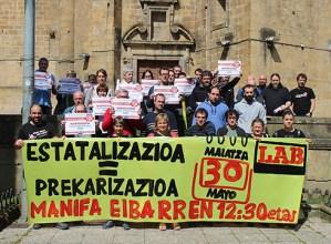 Maiatzaren 30erako lanuzteak deitu ditu LAB sindikatuak hitzarmenen estatalizazioaren aurka