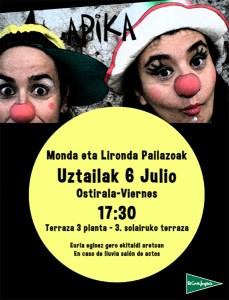 Pailazoak: Monda eta Lironda @ El Corte Inglesean (3. solairuan, terrazan. Euria eginez gero ekitaldi aretoan))