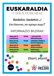 Euskaraldia: informazio bilerak @ ...eta kitto! (Urkizu 11)