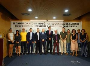 Zapatuan Ermuan jokatuko den Gazte Robotika Euskadiko II. Hezkuntza Robotika Txapelketa aurkeztu dute
