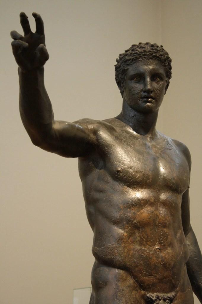 The bronze Antikythera Youth c. 340 BCE.