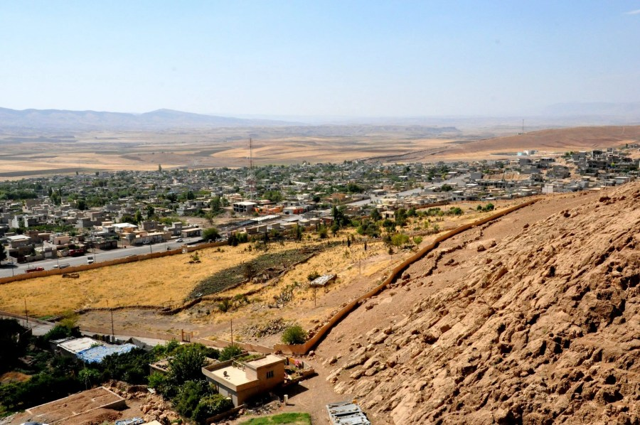 The village of Hareer (Harir), Erbil Governorate, Iraqi Kurdistan. Shooting from Mountain Hareer.