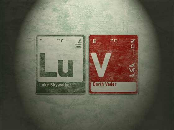 Luke and Vader tiles