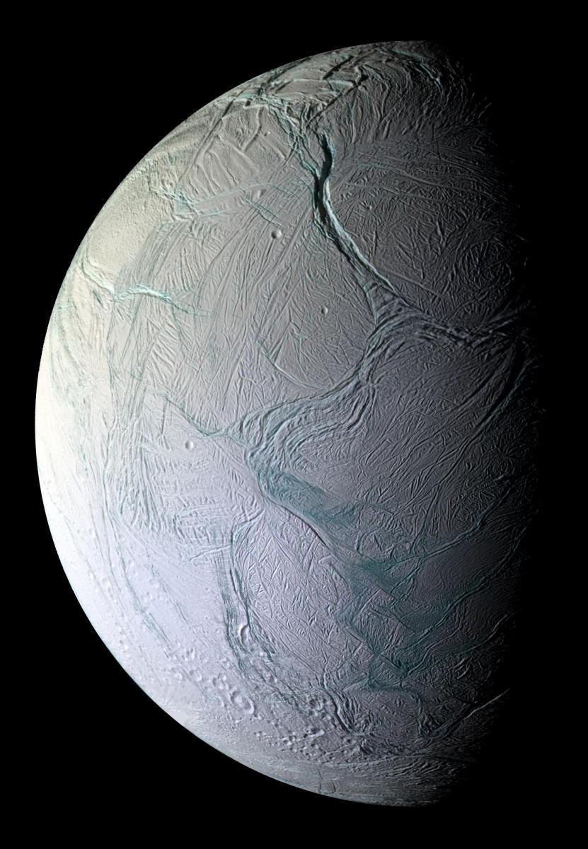 Enceladus: 28 fotos da lua de Saturno em uma só imagem